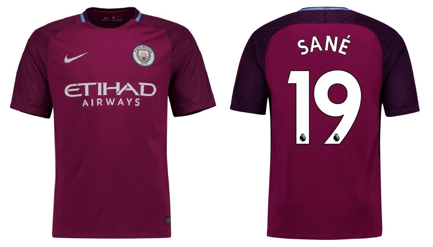 Trikot Kinder Manchester City 2017-2018 Away - Sane 19