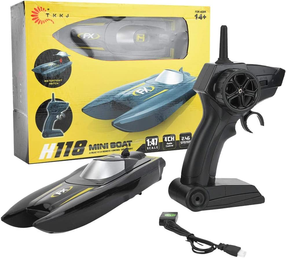 Zouminy RC Boat 1/24 2.4GHz Water Speed Boat Remote Control Speedboat Toy Model