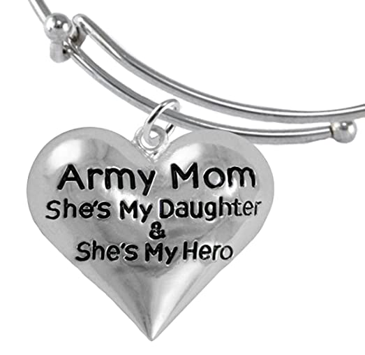 Amazoncom Army Enlisted Daughter My Daughter Is My Hero Bracelet