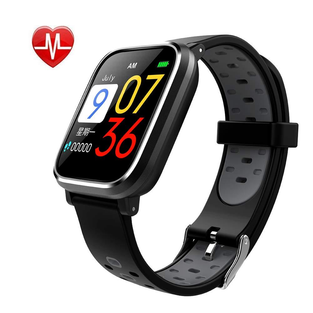 AJJHOMER Fitness Tracker, Fitness Armband Uhr mit Herzfrequenz, Schrittzähler Pulsmesser Schlafmonitor Kalorienzähler Beachten Kompatibel mit iOS Android Handy Lange Standby-IP67 Smartwatch