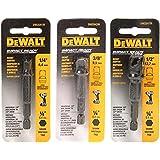 Conjunto de adaptadores de soquete de 3 peças para chave de impacto DW2541IR, DW2542IR, DW2547IR