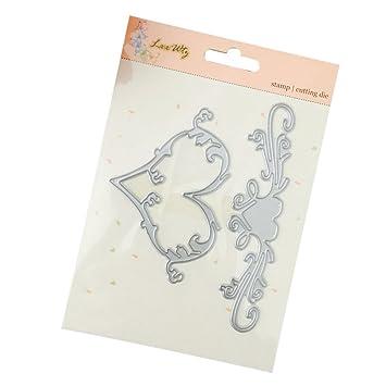 DIPOLA Angel Bonita y Preciosa Diseño de Troqueles de Corazón Corte de Metal para Boda Tarjeta de Papel Scrapbooking Making: Amazon.es: Hogar