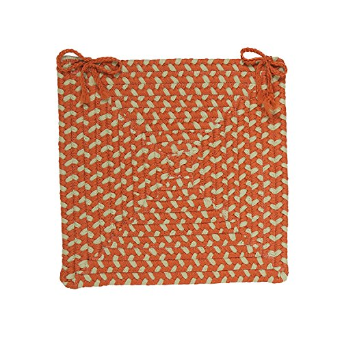 Colonial Mills MG29 North Ridge Montego Chair Pad, 15 by 15-Inch, Tangerine, 1-Pack