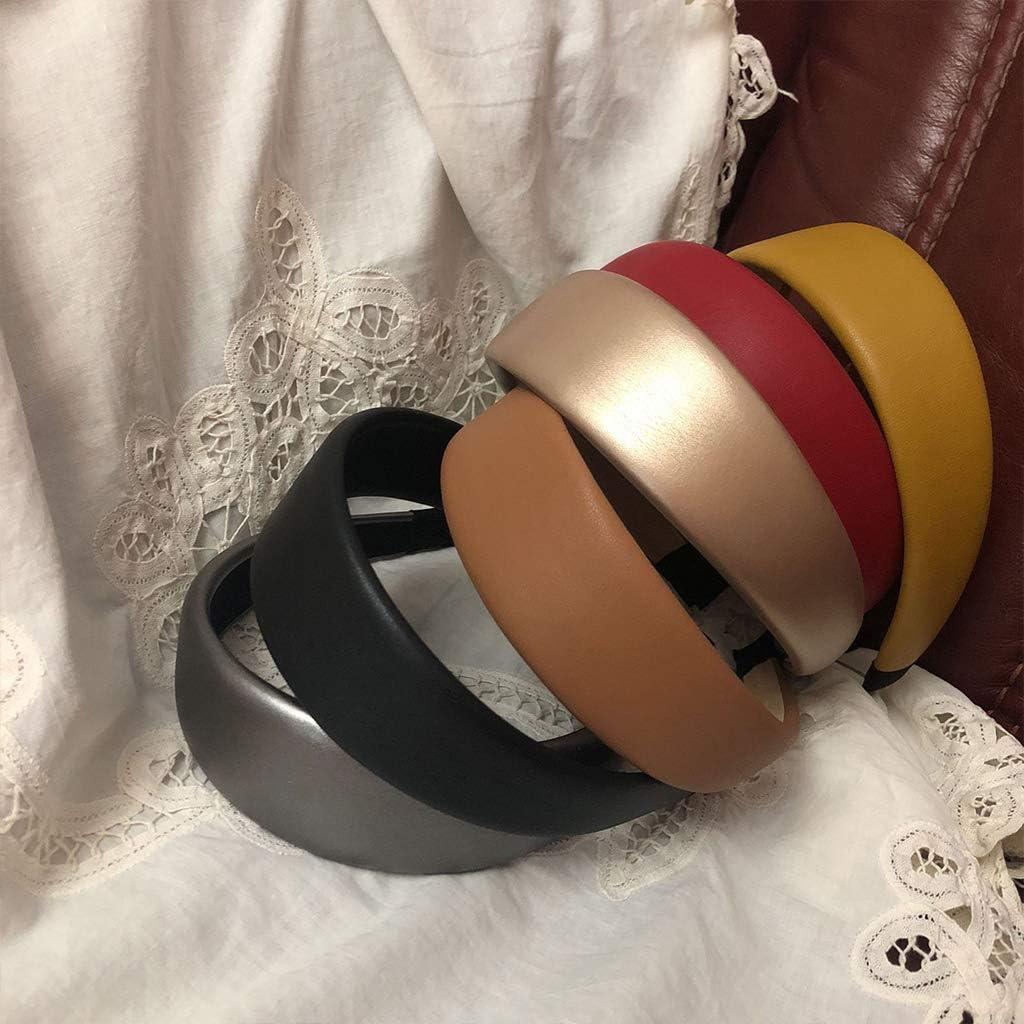 Erisl Serre-t/ête /élastique en simili cuir pour femme