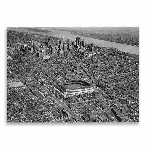 Aerial-View-Of-Briggs-Stadium-Avanti-Historic-Detroit-Blank-Note-Card