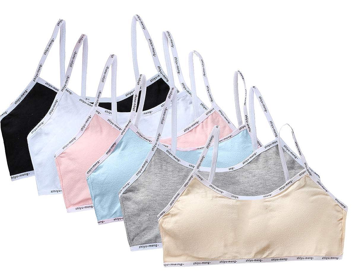 5 Mädchen Bustier Baumwolle mit Spitze Sport BH Unterwäsche Kinder Top