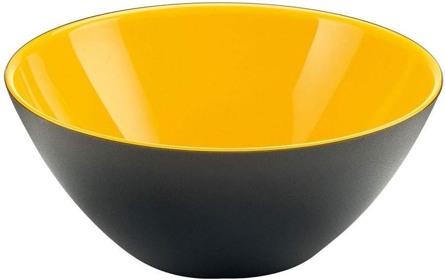 Jaune Vert Acrylique sans BPA /Ø 20 x 8,5 cm. Guzzini My Fusion 4 Bowls Bleu et Noir Rouge