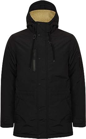 TALLA M. Tokyo Laundry - Parka para hombre con capucha y forro de sherpa con cola de pescado pesada para invierno