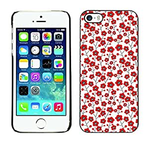 PatternViking PC Polycarbonate Aluminium Back Case Cover Apple iPhone 5 / 5S ( cute flower )