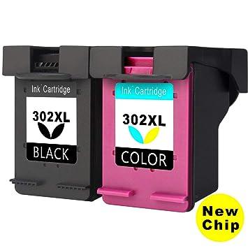 Asonway Remanufacturado HP 302 302XL Cartuchos de Tinta(1 Negro,1 Tricolor) Compatiable con HP DeskJet 3636 3637 3630 2130