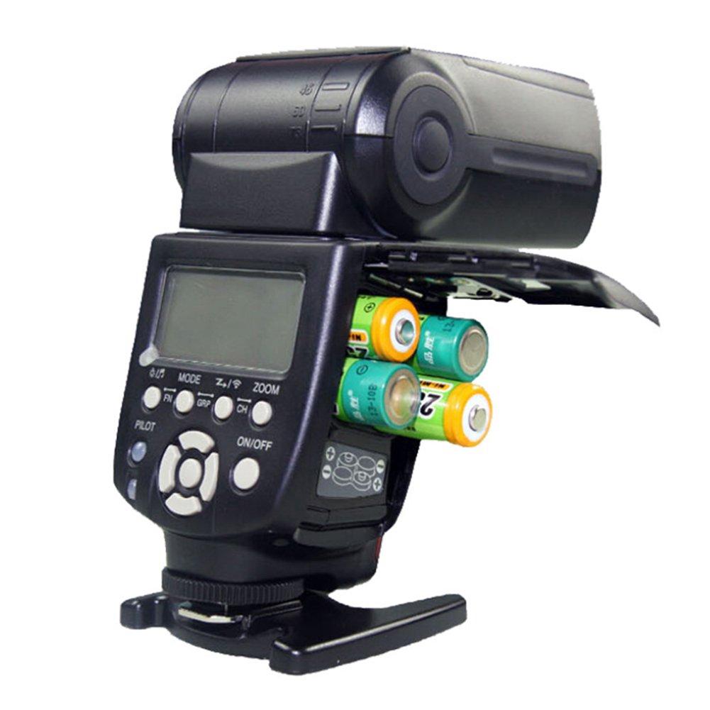 BEESCLOVER カメラ スピードライト カメラ フラッシュ スピードライト スピードライト RF-602/603 トリガー ミニスタンド キヤノン ニコン カメラ ブラック   B07JP4W14C