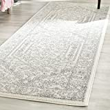 "Safavieh Adirondack Collection ADR108B Ivory and Silver Oriental Vintage Runner (2'6"" x 20')"