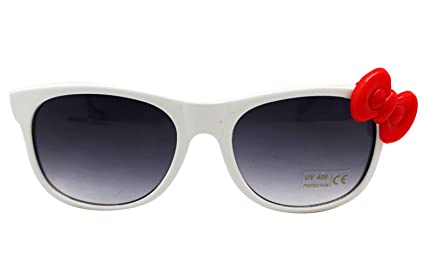21a0877293 Image Unavailable. Image not available for. Color  SANRIO Hello Kitty  Sunglasses w White Plastic Frame and Red Bow