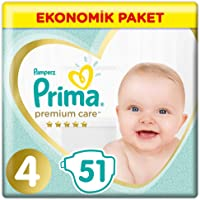 Prima Bebek Bezi Premium Care 4 Beden Maxi Jumbo Paket, 51 Adet