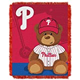 Phillies OFFICIAL Major League Baseball, Field Bear Baby 36x 46 Triple Woven Jacquard Throw