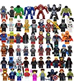 Superheroes Figures Large Set Pack of 54 Collection Building Blocks Toys (Plastic)