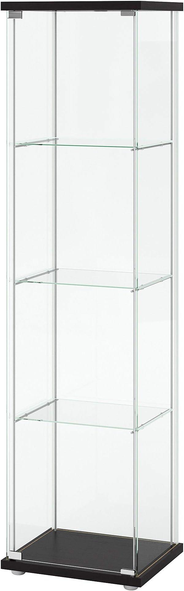 Amazon.com: IKEA Home - Armario de puerta de cristal para ...