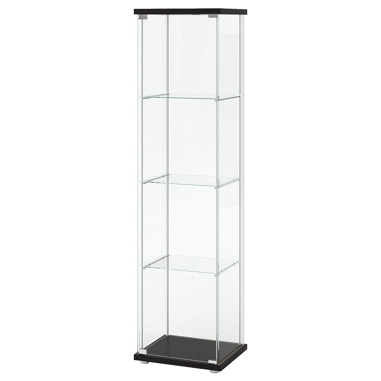 IKEA 101.192.06 Glass-Door Cabinet Black-Brown