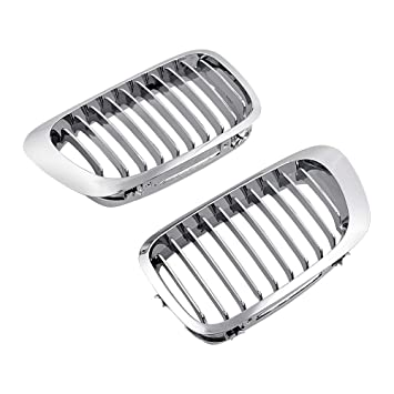 Amazon Com Chrome Euro Sport Lh Rh Front Upper Kidney Grille