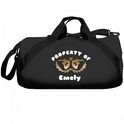 Gymnastics Property Of Emely: Liberty Barrel Duffel Bag