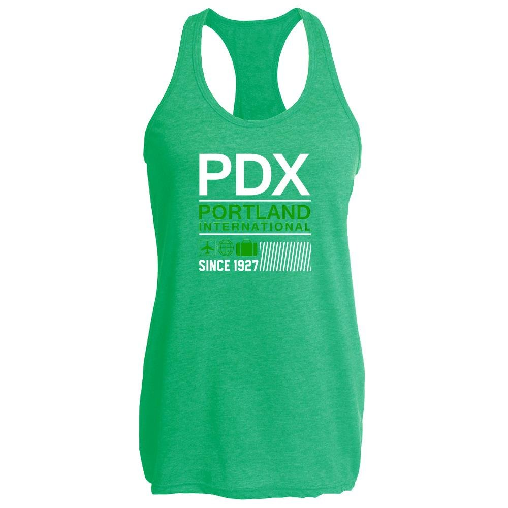PDX Portland International Airport Code Travel Heather Kelly 2XL Womens Tank Top