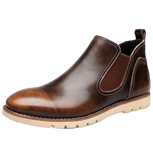Botas Chelsea Hombre Gamuza Cuero Oxblood Desierto Brogue Clásico Martin Boots Botines Botas De Pandillas Altas Botas De Desierto: Amazon.es: Zapatos y ...