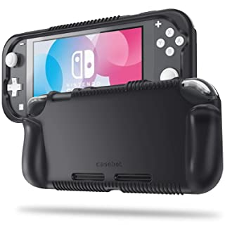 Fintie Case for Nintendo Switch Lite 2019 - Soft Silicone [Shock Proof] [Anti-Slip] Protective Cover with Ergonomic Grip Design Comfortable Grip Case for Switch Lite Console, Black