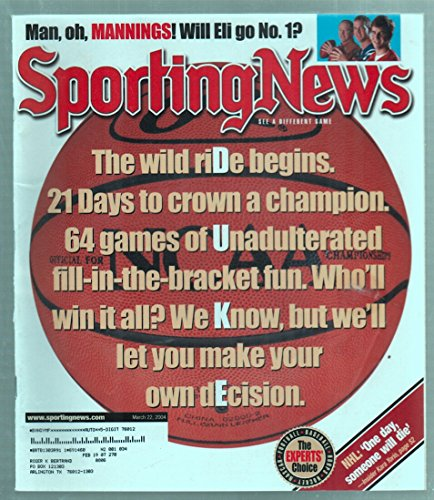 The Sporting News Magazine March 22, 2004 NCAA Duke Basketball Cover GOOD