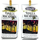 Hawaiian Isles Kona Coffee, 10% Kona Blend Gourmet Coffee, Vanilla Macadamia Nut, Ground (2 Pack)