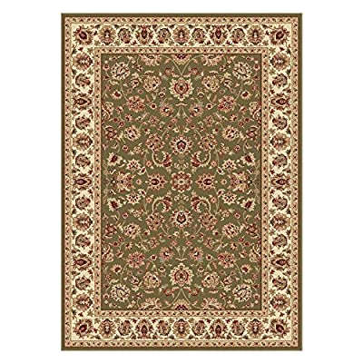 Universal Rugs Traditional Oriental 3 Piece Area Rug Set , Green