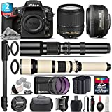Holiday Saving Bundle for D810 DSLR Camera + 18-140mm VR Lens + 35mm 1.8G DX Lens + 650-1300mm Telephoto Lens + 500mm Telephoto Lens + 2yr Extended Warranty + 32GB Class 10 - International Version