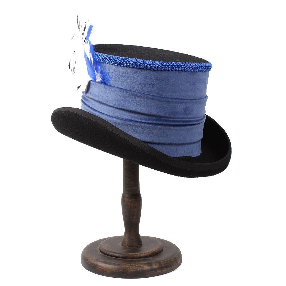 Barato Ruiyue Victorian Steampunk Raven Vintage Style Blue Top Hat