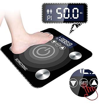 Amazon.com: Báscula de grasa corporal, pantalla LED grande ...