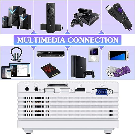 QKK mini proyector [con trípode] llevó el proyector full hd 1080p ...