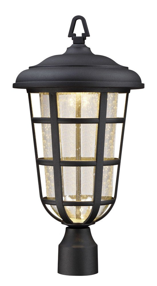 Designers Fountain LED33916-BK Triton 11'' Led Post Lantern by Designers Fountain
