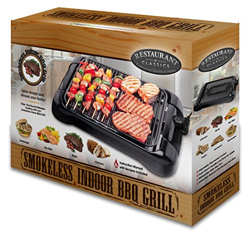 Smart Planet Sig‐1 Indoor Smokeless Bbq Grill Black Buy