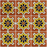 Ceramic Talavera Mexican Tile 4x4'', 9 Pieces (NOT Stickers) A1 Export Quality! - EX17