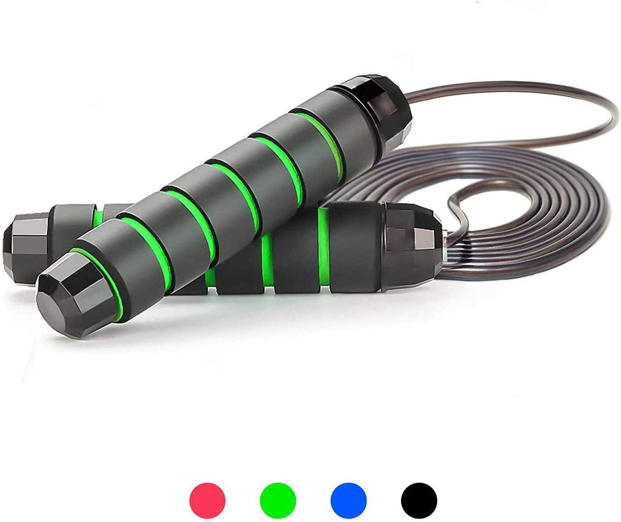 YEAQING Skipping Rope Workout Jump Rope Adjustable Tangle-Free with Soft Handle for Fitness Exercise for Women and Men