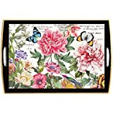 Michel Design Works Wooden Tray, Peony