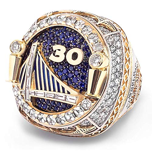 MVPRING Warriors Replica Championship Ring 2018,Size 9-14,Integration Ring, Can Not Be Covered (14, SC) (Best Replica Championship Rings)