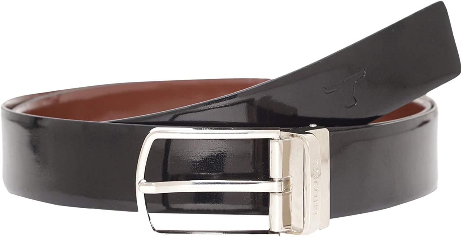 Bulchee Formal high Gloss Leather 35mm with a Reversible Buckle