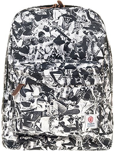 Franklin & Marshall Unisex Unisex Black Backpack With Print Black by Franklin & Marshall