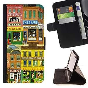 King Case - FOR Samsung Galaxy Core Prime - Precious things are very few - Prima caja de la PU billetera de cuero con ranuras para tarjetas, efectivo Compartimiento desmontable y correa para la mu?eca