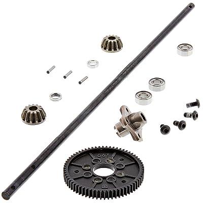 HPI 1/10 RS4 Sport 3 Flux Center Drive Shaft, 66T SPUR & 13T Bevel Gears Hub: Toys & Games