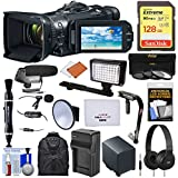 Canon Vixia GX10 Wi-Fi 4K Ultra HD Digital Video Camcorder with 128GB Card + Battery + Backpack + LED + Microphones + Headphones + Stabilizer + Kit