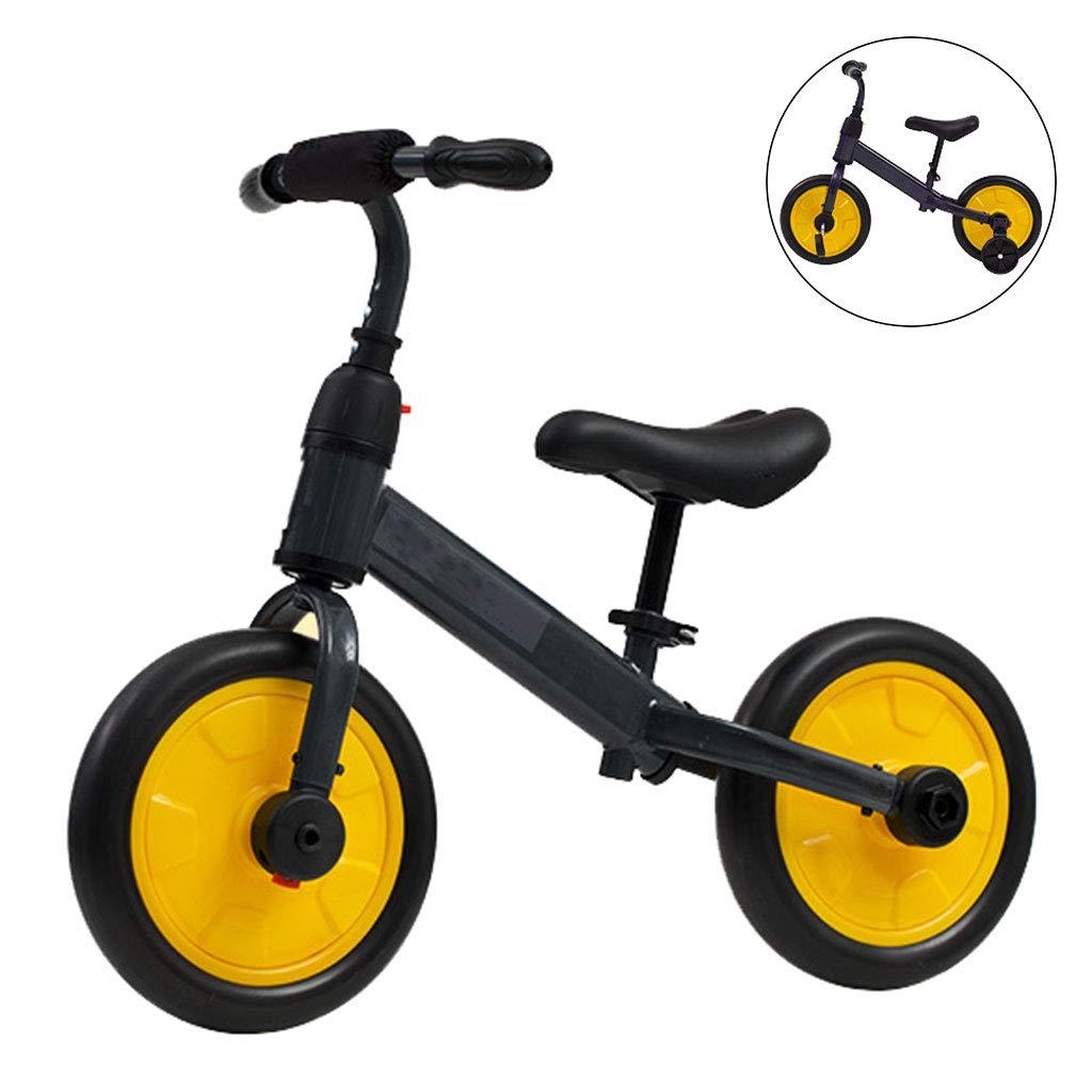 【逸品】 バランス自転車多機能2 in 1調節可能な子供のバランスカー耐久性のある快適な安全実用的 yellow B07PQD9Q84 yellow in B07PQD9Q84, pupi et mimi:83400872 --- senas.4x4.lt