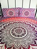 Indian Tapestry Wall Hanging Mandala Throw Bedspread Gypsy Cover Boho Double Set Ombre UK Seller
