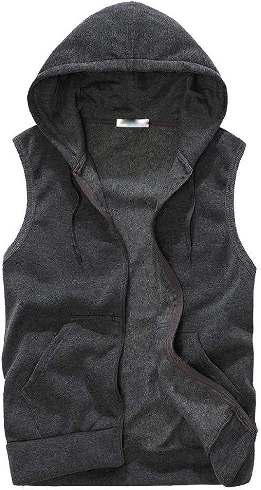 Sport Mens Sleeveless Waistcoat Vest Summer Hooded Hoodies Casual Loose Tee LO