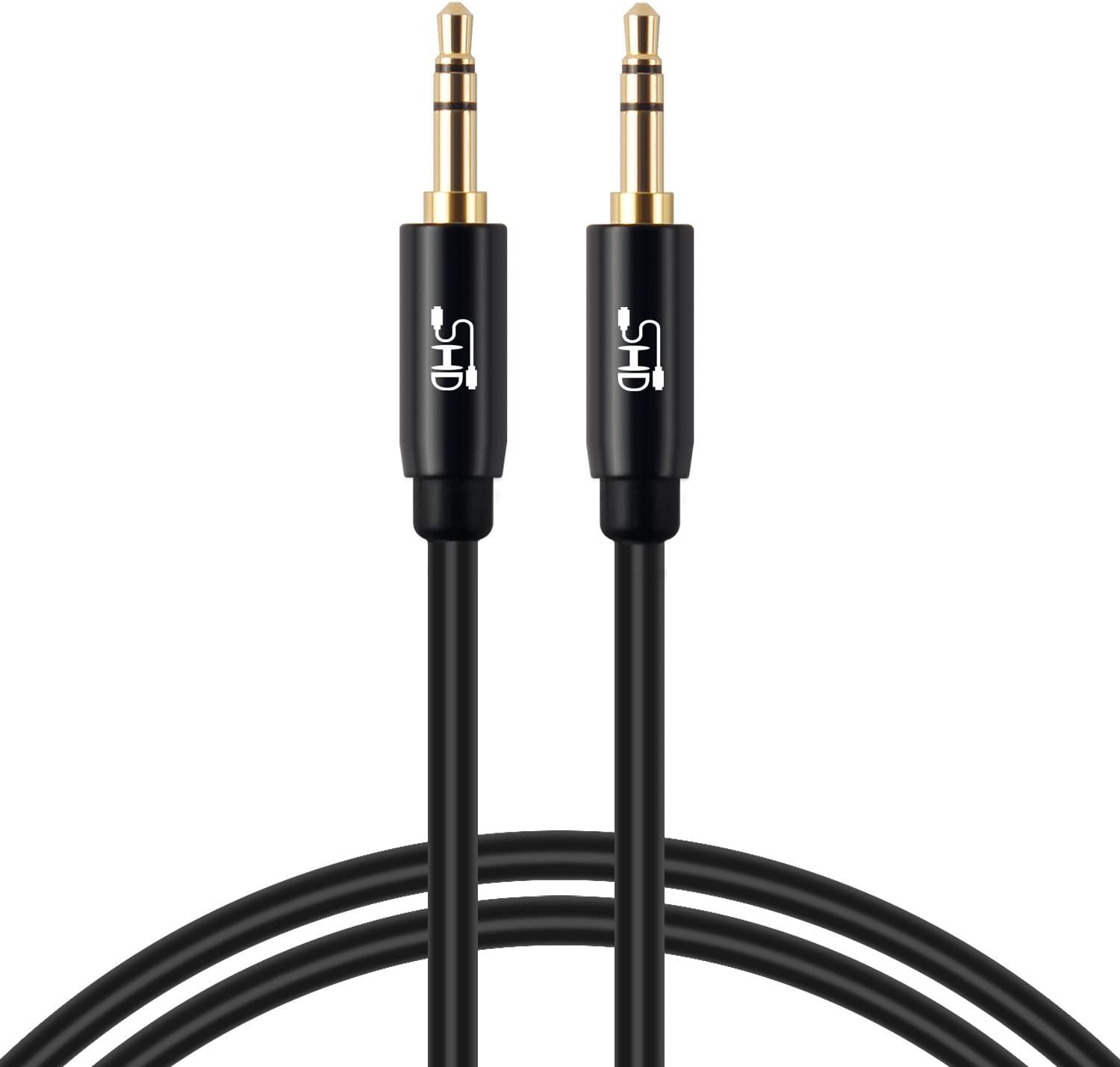 Aux Cable,SHD 3.5mm Audio Cable Aux for Car Auxiliary Audio Stereo Cable 3.5mm Cord Premium Sound Dual Shielded with Gold Plated Connectors-6Feet