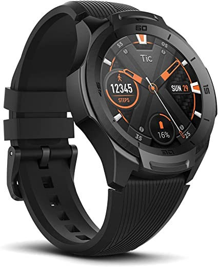 Ticwatch S2, Waterproof Smartwatch with Build-in GPS for Outdoor Activities, Wear OS by Google, Compatible with Android and iOS (Midnight)